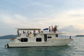 Coastal Cruiser departing port in Phuket