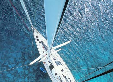 superyacht viewd from above epic charters phuket